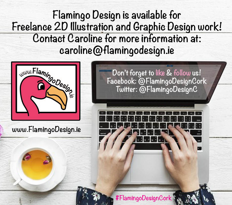 Flamingo Design is available for freelance Graphic Design and 2D Illustration